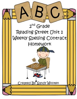Reading Street 2008 2nd Grade Differentiated Spelling Homework Unit 1 (L.2.2.d)