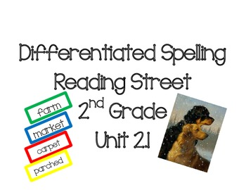 2nd Grade Reading Street Differentiated Spelling Unit 2.1 Flash Cards