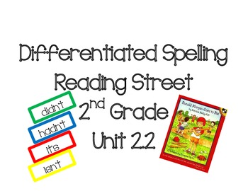 2nd Grade Reading Street Differentiated Spelling Unit 2.2 Flash Cards