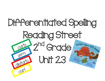 2nd Grade Reading Street Differentiated Spelling Unit 2.3 Flash Cards