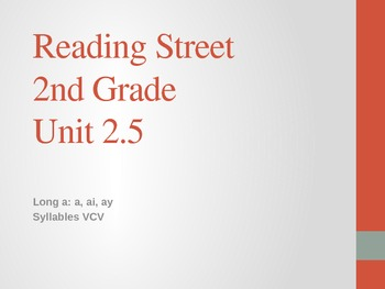 2nd Grade Reading Street Differentiated Spelling Unit 2.5 Power Point