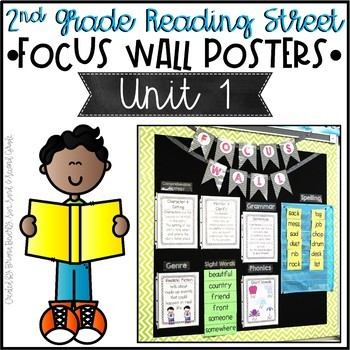 Second Grade Reading Street Focus Wall Posters - Unit 1