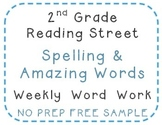 2nd Grade Reading Street 2010 Sample Center Activities, Spelling, Amazing Words