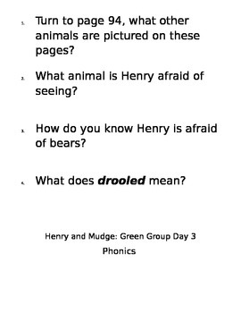 2nd Grade Reading Street Henry and Mudge Differentiated Teacher Center