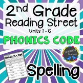 2nd Grade Reading Street Spelling - Phonics Code UNITS 1-6