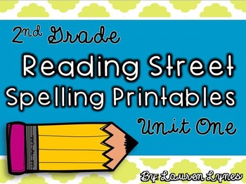 2nd Grade Reading Street Spelling Printables {Unit 1}