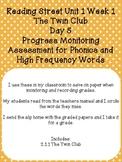 2nd Grade Reading Street Twin Club Progress Monitor Sample