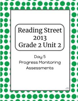 2nd Grade Reading Street Unit 2 Progress Monitor Phonics and HFW