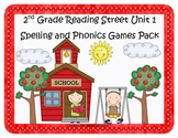 Reading Street 2nd Grade Unit 1 Spelling & Phonics Games Pack (RF.2.3, L.CCR.2)