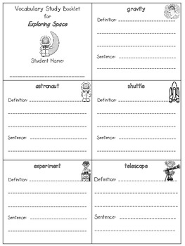 2nd Grade Reading Street - Unit 1 vocab. booklets (freebie)