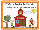 Reading Street 2nd Grade Unit 2 Spelling and Phonics Game Pack (RF.2.3, L.CCR.2)
