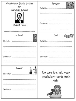 2nd Grade Reading Street - Unit 2 vocab. booklets (freebie)