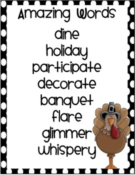 2nd Grade Reading Street Unit 2.5 A Turkey for Thanksgiving Activities Packet