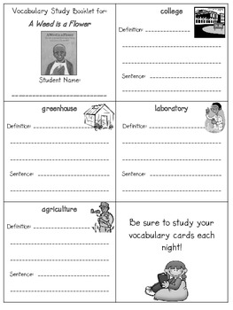 2nd Grade Reading Street: Unit 3 vocab. booklets (freebie)