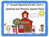 Reading Street 2nd Grade Unit 4 Spelling and Phonics Game Pack (RF.2.3, L.CCR.2)