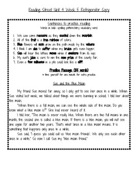 2nd Grade Reading Street Unit 4 week 5 Refrigerator Notes