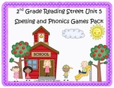 Reading Street 2nd Grade Unit 5 Spelling and Phonics Game Pack (RF.2.3, L.CCR.2)