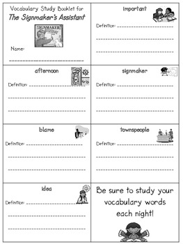 2nd Grade Reading Street: Unit 5 vocab. booklets (freebie)