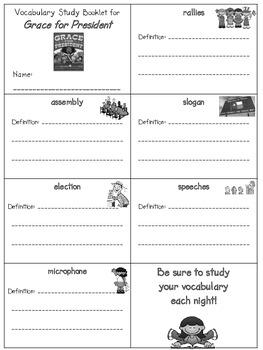 2nd Grade Reading Street: Unit 6 vocab. booklet (freebie)