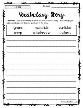 2nd Grade Reading Street Vocabulary - Writing Activity UNITS 1-6
