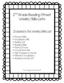 2nd Grade Reading Street Weekly Skills Sheets
