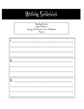 2nd Grade Reading Street Writing Sentences Sheets