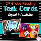2nd Grade Reading Task Cards (Digital & Printable)