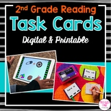 2nd Grade Task Cards for Literacy Centers (Digital & Printable)