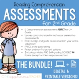 2nd Grade Reading Tests   Digital and Printable BUNDLE