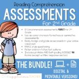 2nd Grade Reading Tests | Digital and Printable BUNDLE