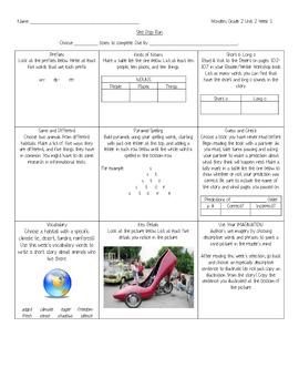 2nd Grade Reading Wonders Choice Board - Unit 2 Week 1