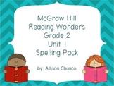 2nd Grade Reading Wonders Spelling Pack_Unit 1