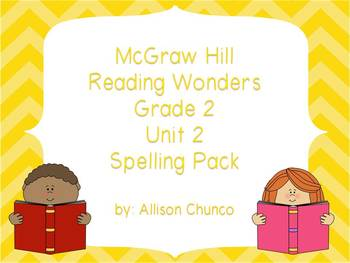 2nd Grade Reading Wonders Spelling Pack_Unit 2