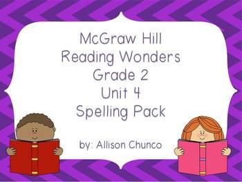 2nd Grade Reading Wonders Spelling Pack_Unit 4