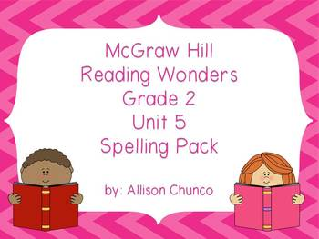 2nd Grade Reading Wonders Spelling Pack_Unit 5