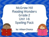 2nd Grade Reading Wonders Spelling Pack_Units 1-6