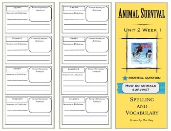 2nd Grade Reading Wonders Spelling/Vocabulary Unit 2