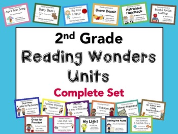 2nd Grade Reading Wonders Story Units ~ Complete Set