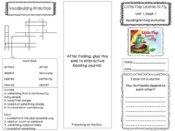 2nd Grade Reading Wonders Trifold - Unit 1, Week 1 - Little Flap Learns to Fly