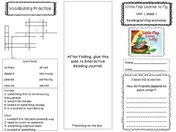 2nd Grade Reading Wonders Trifold - Unit 1, Week 1