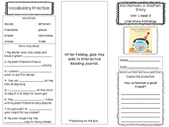 2nd Grade Reading Wonders Trifold - Unit 1, Week 3