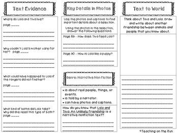 2nd Grade Reading Wonders Trifold - Unit 1, Week 4