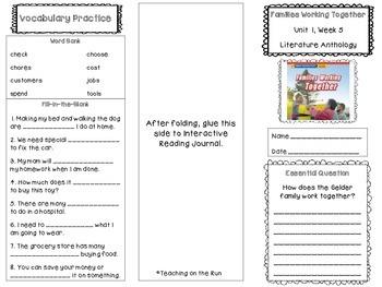 2nd Grade Reading Wonders Trifold - Unit 1, Week 5