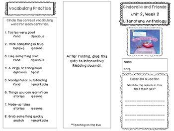 2nd Grade Reading Wonders Trifold - Unit 2, Week 2