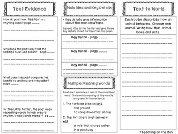 2nd Grade Reading Wonders Trifold - Unit 2, Week 5