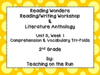 2nd Grade Reading Wonders Trifold - Unit 3, Week 1