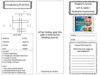 2nd Grade Reading Wonders Trifold - Unit 3, Week 1