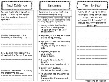 2nd Grade Reading Wonders Trifold - Unit 3, Week 3
