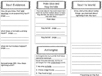 2nd Grade Reading Wonders Trifold - Unit 3, Week 4