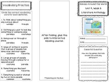 2nd Grade Reading Wonders Trifold - Unit 4, Week 3